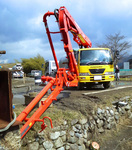 長距離配管打設レポート 用水路コンクリート打設:拡大画像1