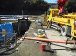 長距離配管打設レポート 用水路コンクリート打設:拡大画像3